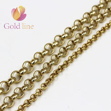3.2Gold Metal chain aluminum chain gold color No rust diy necklace waist chain clothing accessories(China)