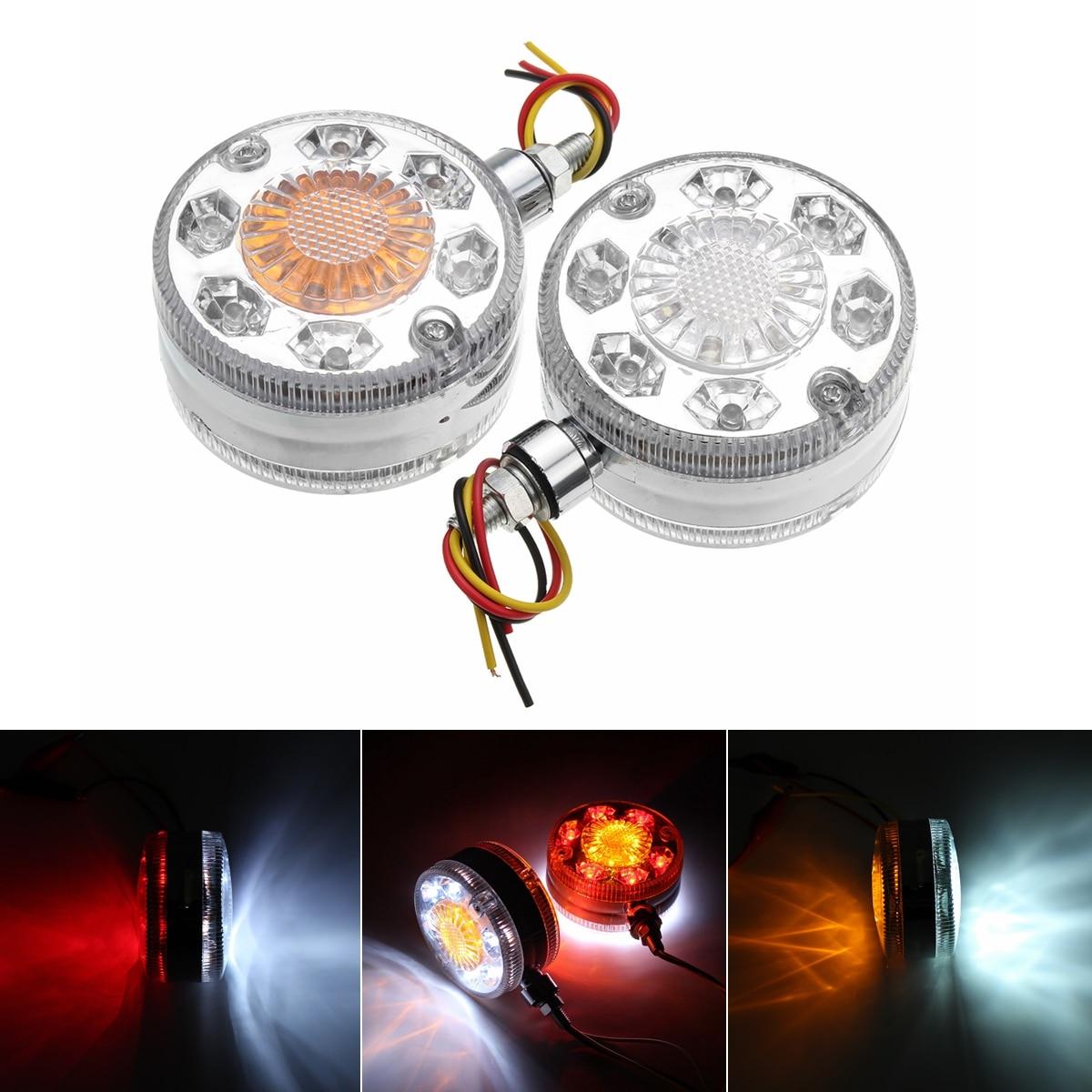 2 pcs Chrome Rouge Blanc Ambre 24 LED Side Maker Lumières Pour SCANIA DAF HOMME pour RENAULT 24 v