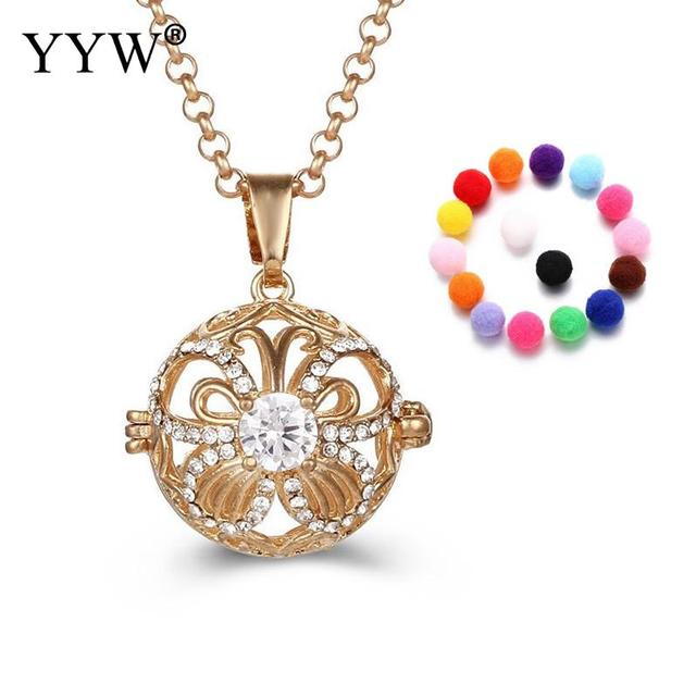 Yyw perfume aromatherapy pendant essential oil diffuser crystal yyw perfume aromatherapy pendant essential oil diffuser crystal locket cage necklace pendant for women gift jewelry aloadofball Images