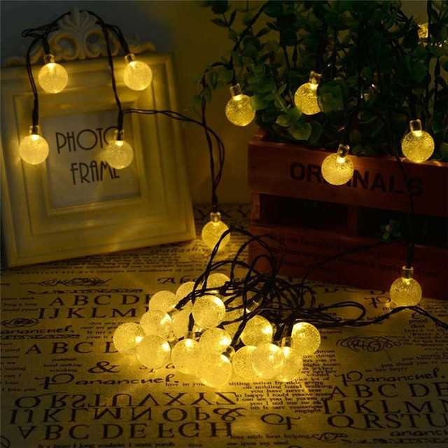 Romantic led lighting strings christmas crystal string lights romantic led lighting strings christmas crystal string lights wedding festival decoration lamps round flash outdoor lighting workwithnaturefo