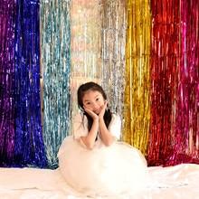 1m 2m wedding backdrop tinsel curtain photo booth backdrop foil door curtain birthday sequin backdrop mermaid