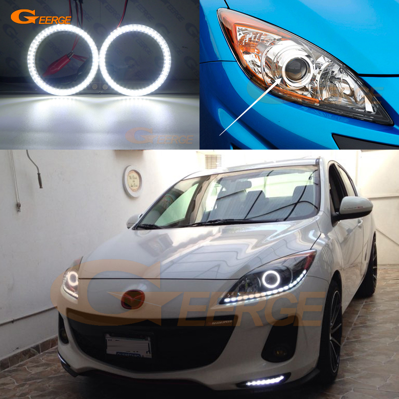 For Mazda 3 mazda3 BL 2009 2010 2011 2012 2013 Sedan hatchback Excellent Ultra bright illumination smd led Angel Eyes kit DRL
