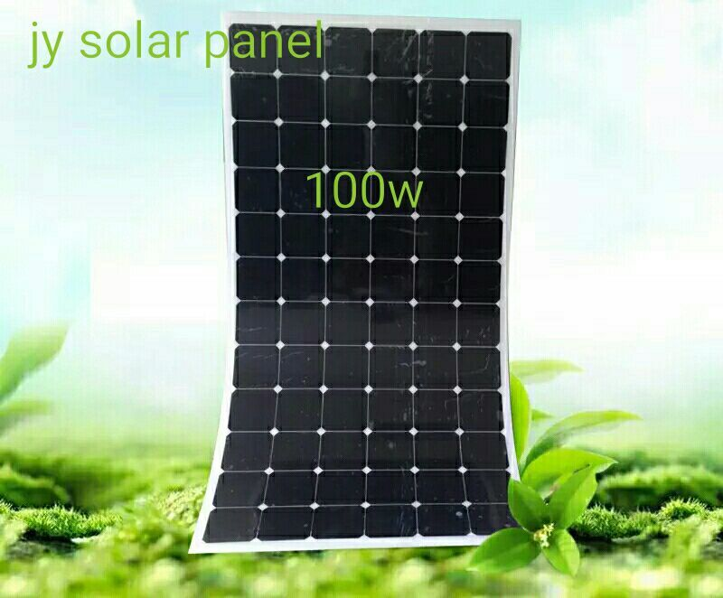 New monocrystalline silicon <font><b>solar</b></font> <font><b>panels</b></font> <font><b>100</b></font> <font><b>w</b></font> power board <font><b>12</b></font> <font><b>v</b></font> battery image