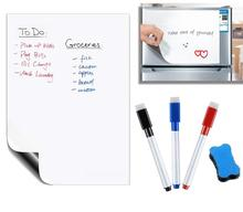 148mm x 210mm Magnetic Dry wischen Whiteboard Küche Kühlschrank Magneten Marker Stifte Radiergummi Nachricht Weiß Bord Memo Pad kühlschrank Aufkleber