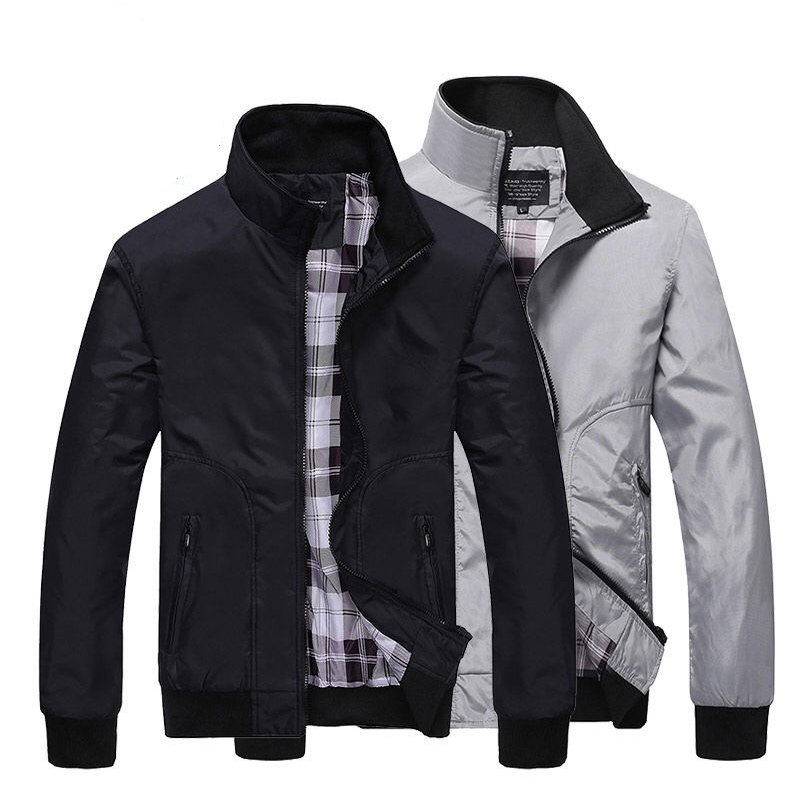 Spring Autumn men's jacket new Cultivate one's morality short paragraph color matching collar jacket male baseball uniform M-4XL(China)