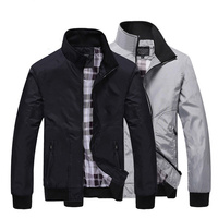 Spring Autumn men's jacket new Cultivate one's morality short paragraph color matching collar jacket male baseball uniform M-4XL Jackets
