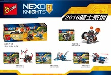 4pcs/sets 2016 Bozhi110 Super heroes New NEXO Knights Building Blocks Toys Gift Minifigures Compatible With Lego Mini Figures