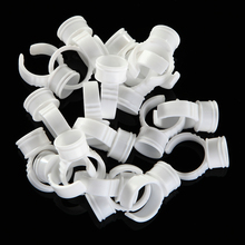 40pcs/pack 12mm Disposable Eyelash Extend Ring Cup Tattoo Pigments Ink Ring Cups Set Tattoo Equipment Pigment Holder Container