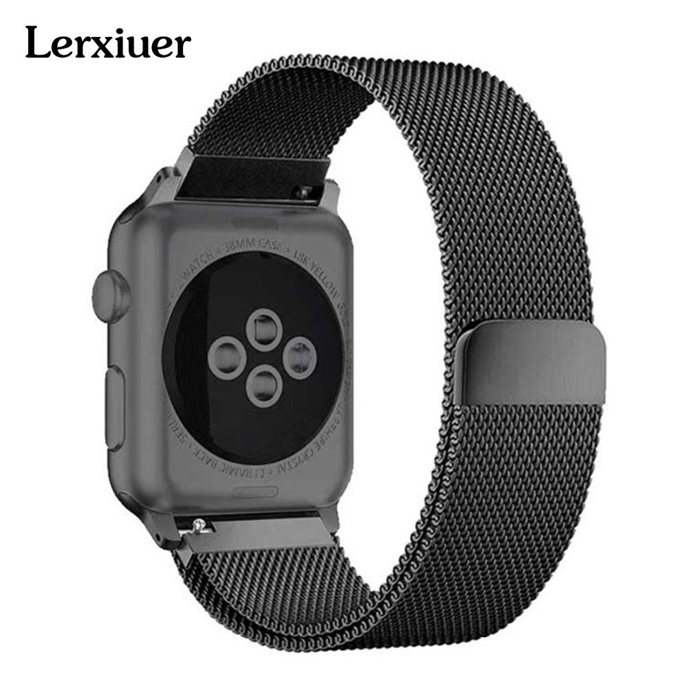 все цены на Milanese Loop strap For apple watch 44mm 40mm 42mm 38mm iwatch Series 4/3/2/1 band Stainless Steel bands Wrist Bracelet Belt онлайн