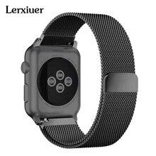 Milanese Loop ремешок для apple watch 44 мм 40 мм 42 мм 38 мм iwatch серии 4/3/2/1 группа Нержавеющаясталь полосы наручные браслет пояса