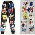 2016 Otoño/Invierno del envío libre Nuevos hombres/mujeres 3d pantalones joggers pantalones de chándal de impresión de dibujos animados Garfield primavera pantalones de chándal pantalones