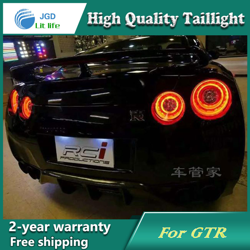 Car LED Tail Light Parking Brake Rear Bumper Reflector Lamp for Nissan GTR Red Fog Stop Lights Car styling for nissan gtr gtr r35 led tail lights 2007 red