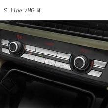 Autocollants de boutons d'intérieur pour BMW série 5 f10 f18, accessoires Auto, couverture multimédia de panneau CD de climatisation