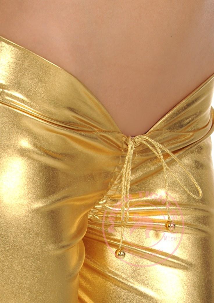 Faux cuir Catsuit crayon pantalon taille basse pantalons décontractés Sexy sous-vêtements érotique Lingerie Leggings nuit Club danse porter FX100 - 6