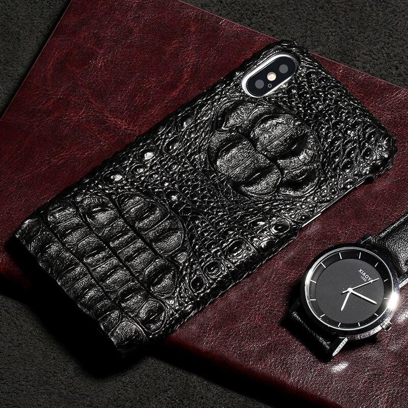 Marque Vachette téléphone étui pour iphone X crocodile motif demi-paquet mobile coque de téléphone couverture arrière de téléphone Portable - 4