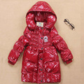 Winter Jackets For Girls Fashion Lightweight Girl Long Thickened Snowsuit Children Jackets Outerwear Big Kids Down Coat GH093