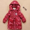 Winter Jackets For Girls Fashion Lightweight Girl Long Thickened Snowsuit Children Jackets Outerwear Big Kids Down Coat GH093