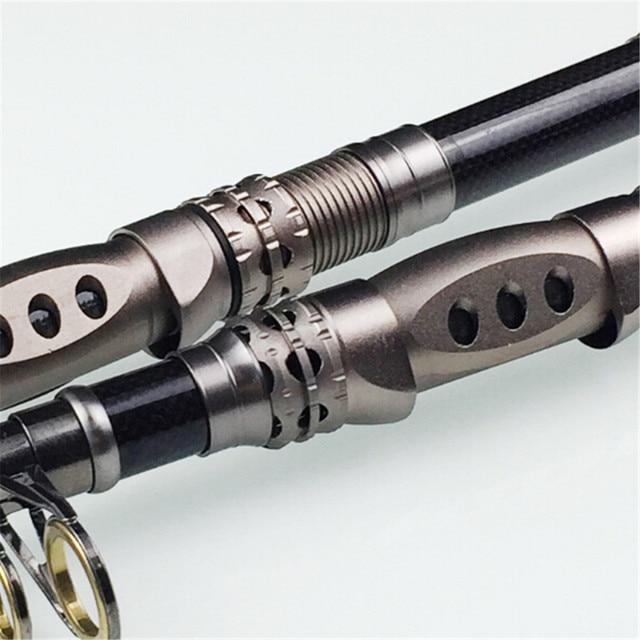 1 Pcs 99% Carbon 1.8M-3.3M Large Hard Drive Portable Telescopic Fishing Rod Sea Water Fish Hand Wheeled Fishing Utensils