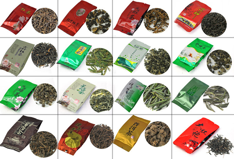 30 Different Flavor Chinese Tea including Black/Gr...