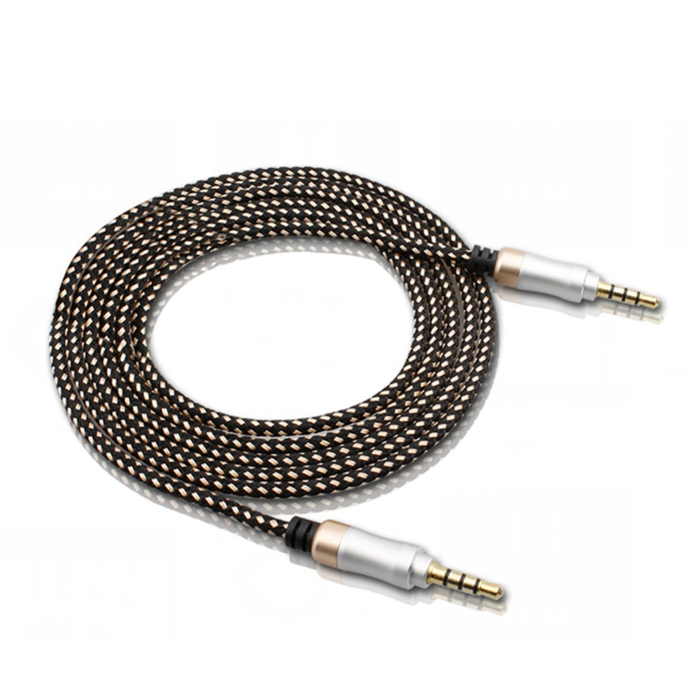 3.5mm Audio Cable for iPhone 6 for Samsung MP3 3.5 mm Car Audio Cable wire Colorful Nylon Headphone Beats Speaker AUX Cord