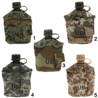 Outdoor 5 Colors 1L Military Camping Army Water Bottle Canteen Cup Pouch For Camping Hiking Desert