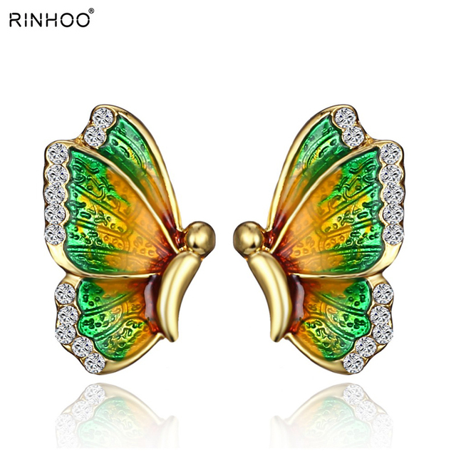 2018 fashion jewelry simple and elegant wild personality female butterfly earrin