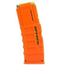 15 -Darts Orange Color Worker F10555 15 Bullets Universal Soft Bullet Clip Injection Mold Magazine Clip for Nerf Orange Clips