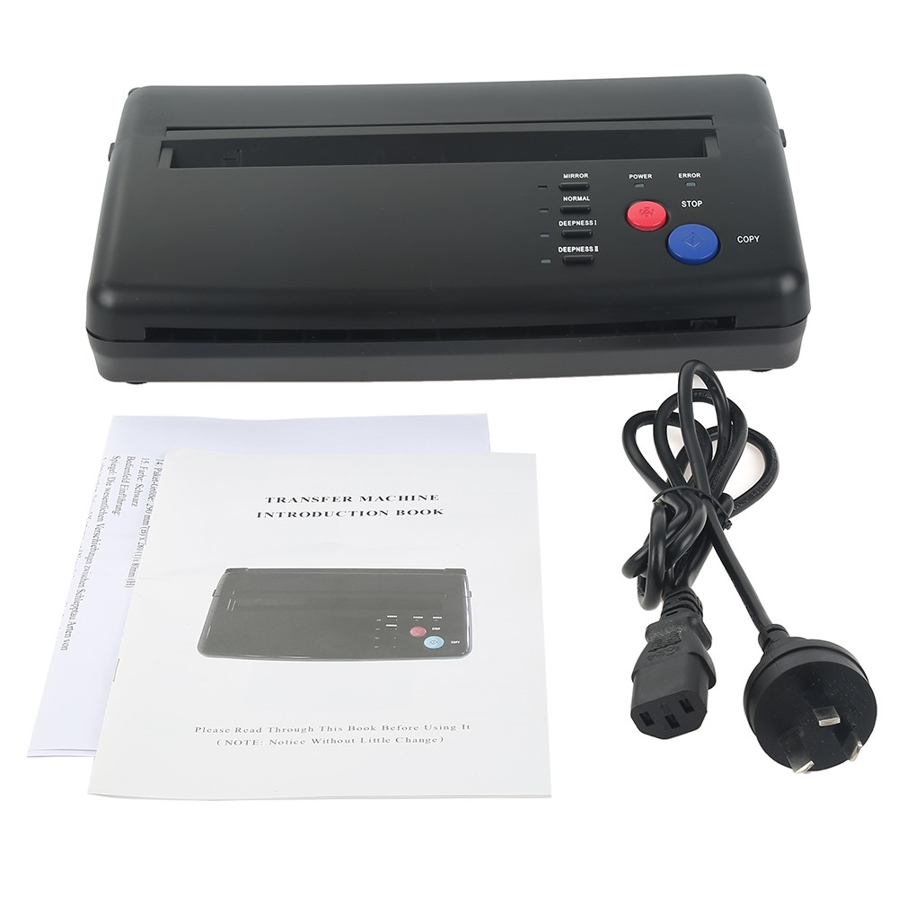 New Tattoo Stencil Transfer Flash Copier Thermal Hectograph Printer Machine CIS Scan Black Color US UK