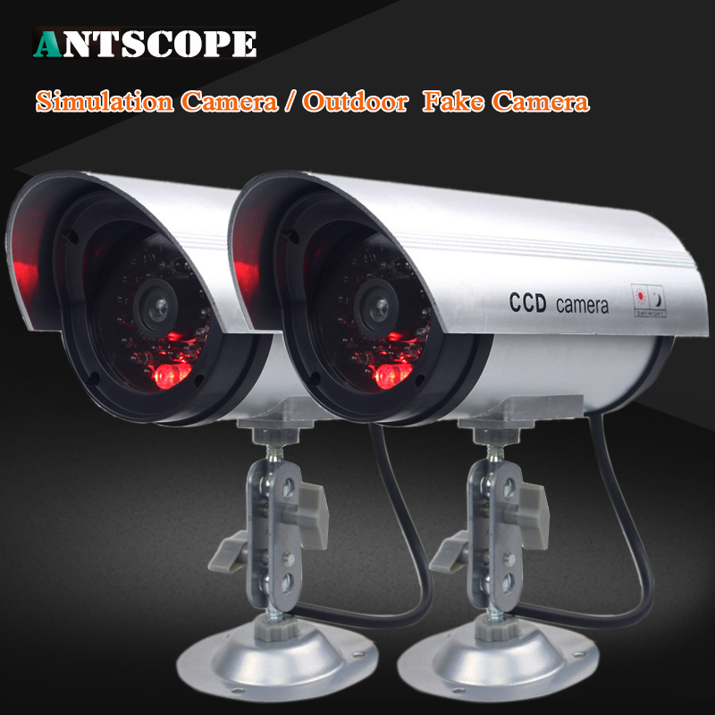 Waterproof CCTV Wireless Home Security Fake Camera Video Dummy  Surveillance Indoor/Outdoor With LED Red Led Bullet Cameras цена и фото