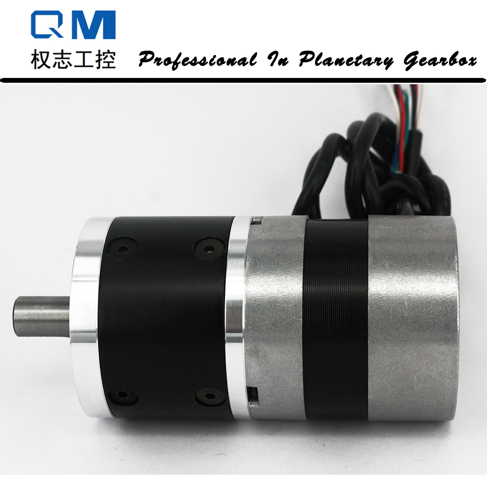 Nema 23 60W gear dc brushless motor planetary reduction gearbox ratio 4:1 with bldc motor 24V cnc dc spindle motor 500w 24v 0 629nm air cooling er11 brushless for diy pcb drilling new 1 year warranty free technical support