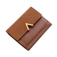 Matte Leather Small Wallet Luxury Brand Famous Mini Women Wallets Purses Short Female Coin Purse Credit Card Holder carteira