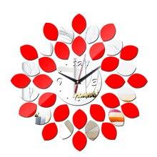 2017 Hot Watch Wall Clock modern design Big Acrylic Clocks Modern relogio de parede Mirror 3d