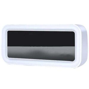 Image 1 - ホット 12 5v デュアル Usb 充電スマートデジタルアラーム時計は調光可能な Led ライト音楽スヌーズ機能アラーム時計