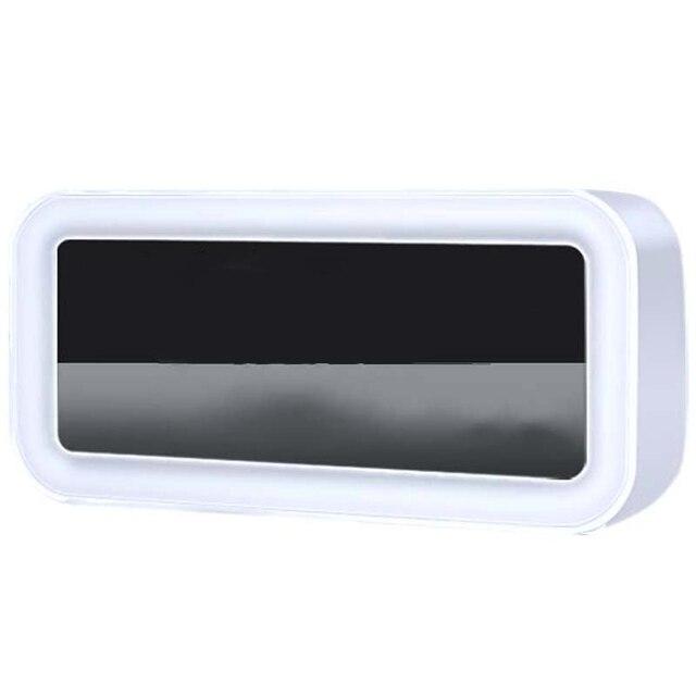 حار 12 فولت شحن USB مزدوج ساعة ذكية منبه رقمي مع عكس الضوء مصباح ليد وظيفة غفوة الموسيقى ساعة تنبيه