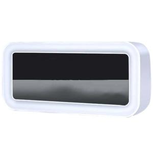 Image 1 - Heißer 12V Dual Usb Lade Smart Digital Wecker Mit Dimmbare Led Licht Musik Snooze Funktion Wecker