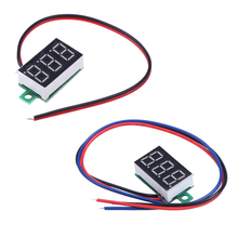 0.36inch LCD Two Wire 5-30V LED Small Red Digital DC Voltmeter Panel Meter Power Supply Best Price(China (Mainland))