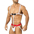Hot Sale!Brand New Sexy  Mankini Men's  Thong G-string Suspenders Costume Play Waiter/borat Gay Lingerie Underwear