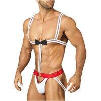 Vendita calda! Brand New Sexy Mankini uomo Perizoma G-String Reggicalze Costume Play Cameriere/borat Gay Lingerie Intimo