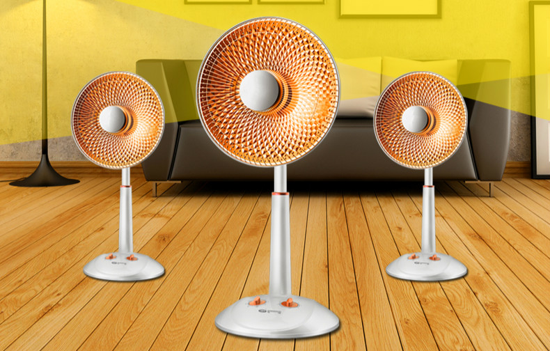 Small solar heater home mute energy-saving electric heaters lifting shook his head fall to the ground fan KaoHuoLu shook his head heater home tower electric heaters ceramic