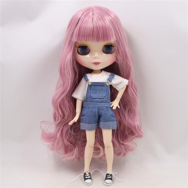 TBL Neo Blythe Dolls tamno ružičasta kosa spojena tijela