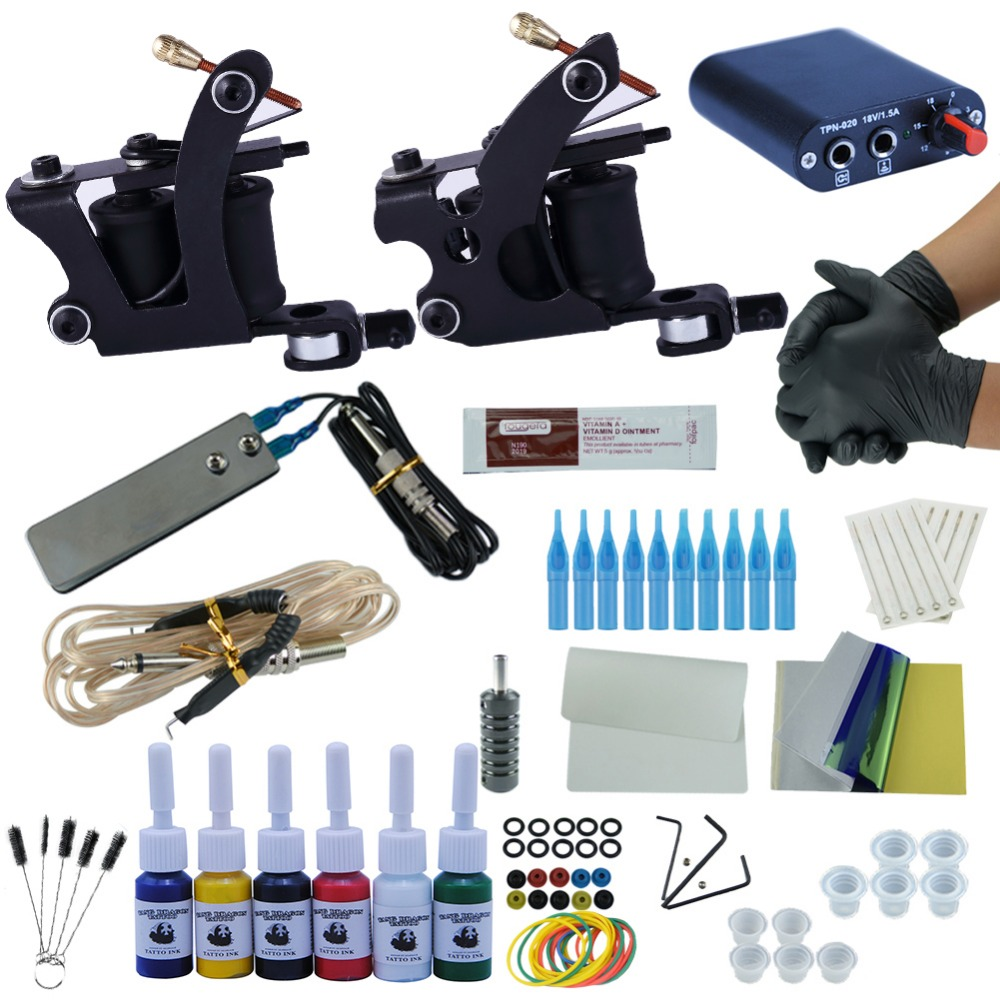 100 popular tattoo starter kit set cheap starter for Cheap tattoo kits amazon