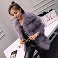 Autumn and winter long neck thickening slim slim ostrich fur coat female free shipping T2