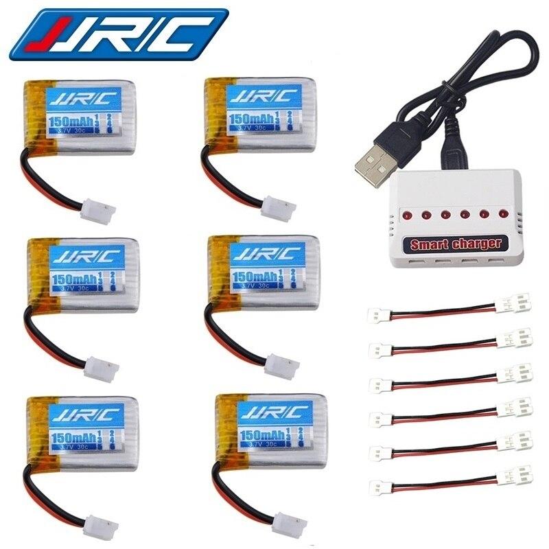 JJRC H36 (6 em 1) conjuntos carregador 3.7V 150mAh 30c Para Eachine E010 E011 E012 E013 F36 H36 RC Parts Quadcopter 3.7v h36 Bateria Lipo