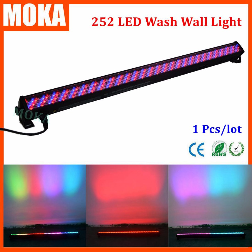 1 pcs/lot 252 rgbw wash wall light DMX512 led Bar light rgbw stage floor light for DJ Equipment Wedding Disco Party light