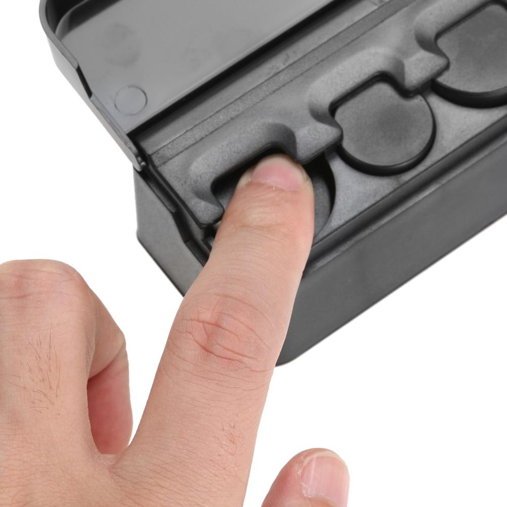 Black Plastics Car Coin Organizer Case Caja de almacenamiento de - Accesorios de interior de coche - foto 6