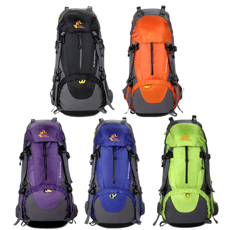 Liplasting Brand 1*Outdoor Hiking Backpack With Rain Cover Nylon 50L Travel Backpack Cycling Camping Hiking Bags Free shipping!