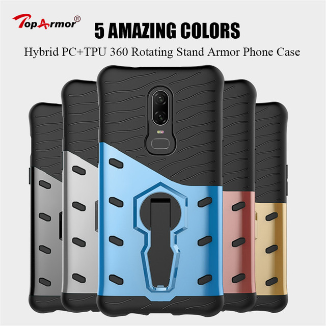 super popular a949c ba46d US $2.73 20% OFF|3D Armor Case Hybrid PC+TPU 360 Rotating Stand Case For  OnePlus 3 OnePlus 3T Shockproof Case For OnePlus 5T OnePlus 6 Case Skin-in  ...