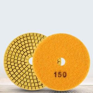 Image 4 - Diamond Polishing Pads Kit 4 inch 100mm Wet Dry Granite Stone Concrete Marble Polishing Grinding Discs Set