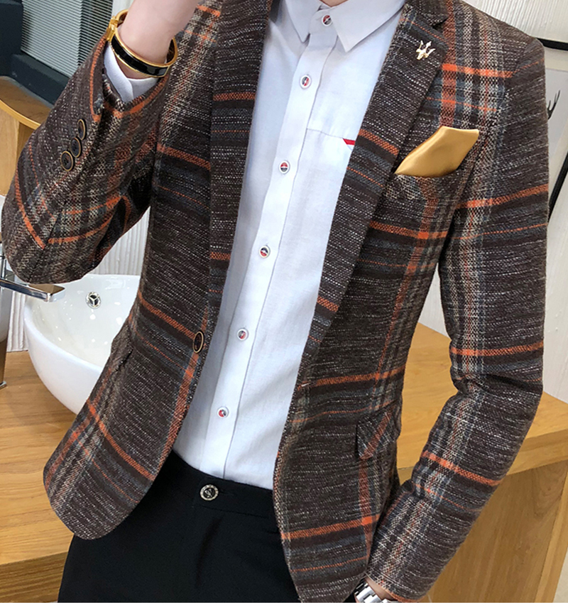 Suit Collar Men Jacket   (7)
