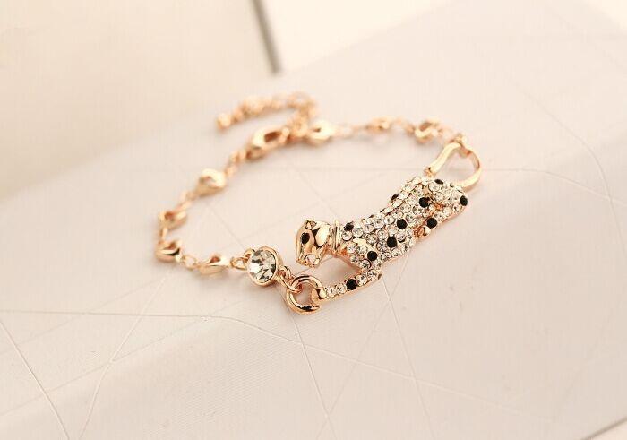 Rhinestone animal leopard bracelet korean luxury jewelery wholesale/pulseras mujer/pulseira feminina/brazalete/bilezik/bracciale браслет на ногу pulseras tobillo bisuteria mujer tobilleras diy anklet